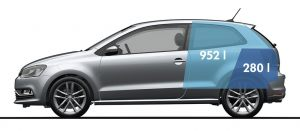 Volkswagen Polo - objem úložného prostoru