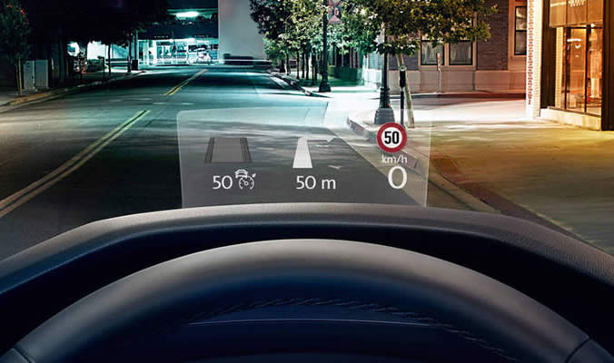 VW Tiguan - Head up display