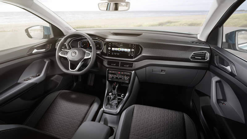 vw t cross interier